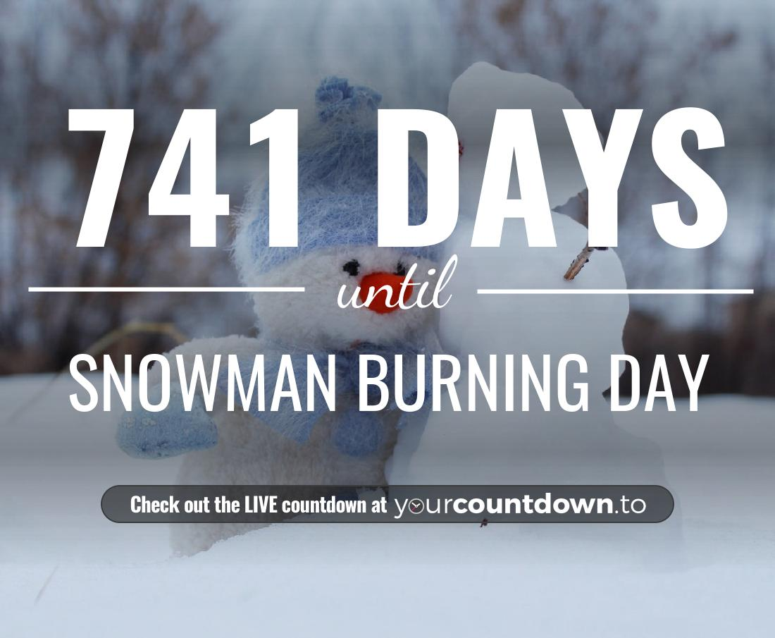 Countdown to Snowman Burning Day