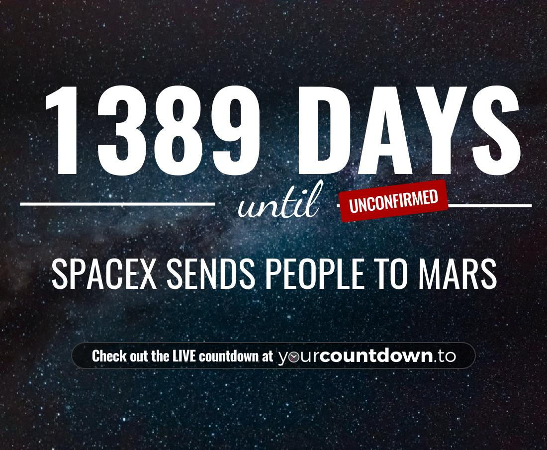 Countdown to SpaceX sends people to Mars