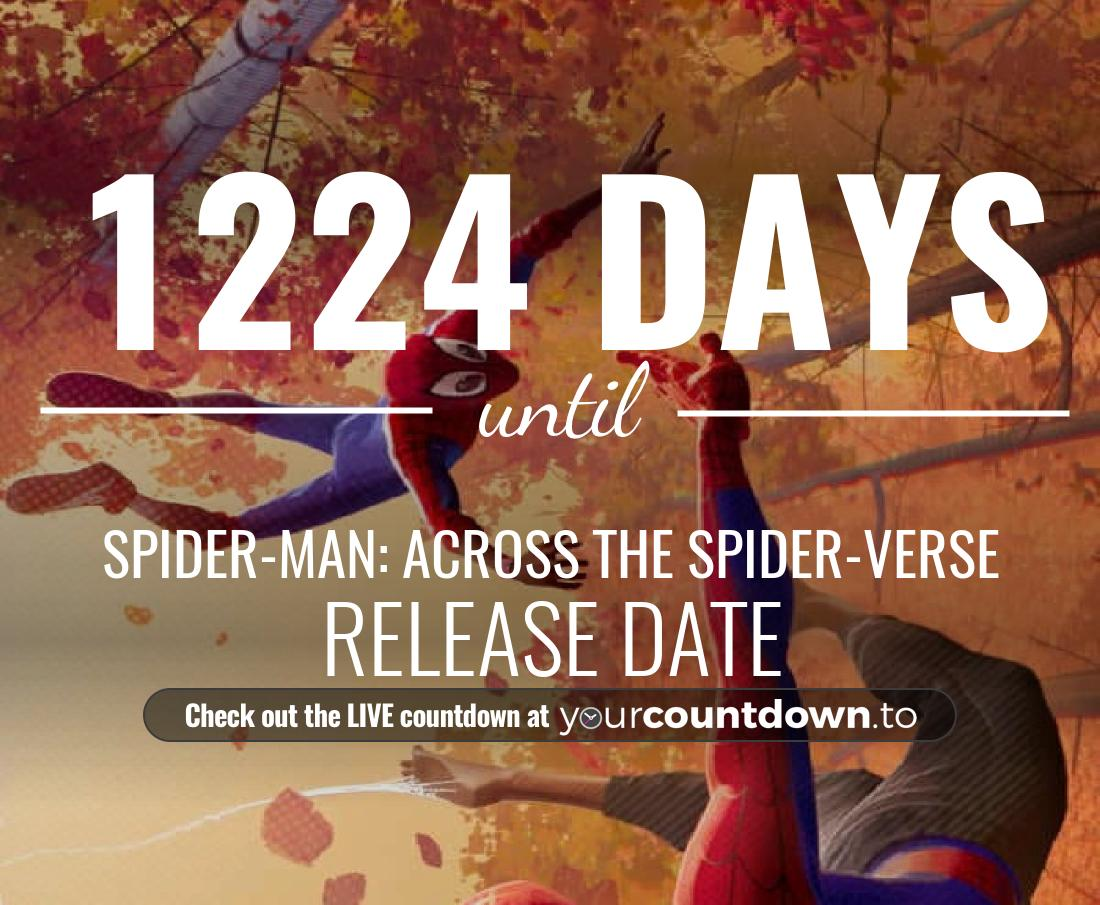 Countdown to Spider-Man: Into the Spider-Verse Sequel Release Date