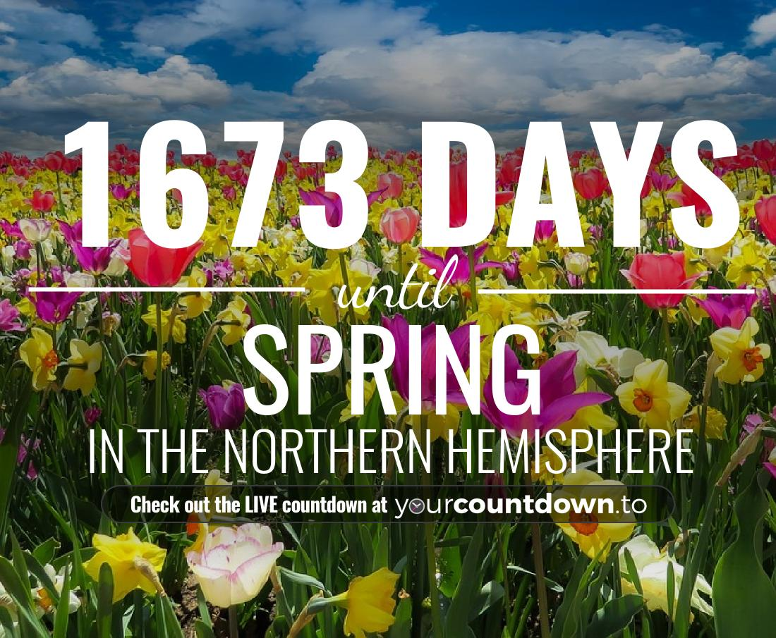 Countdown to Spring In the Northern Hemisphere