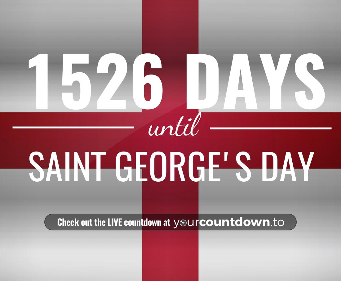 Countdown to Saint George's Day