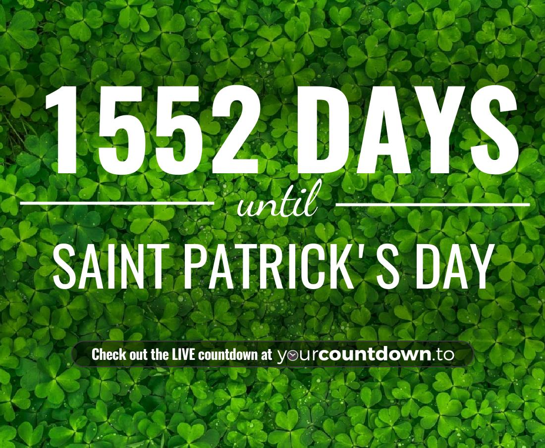 Countdown to Saint Patrick's Day