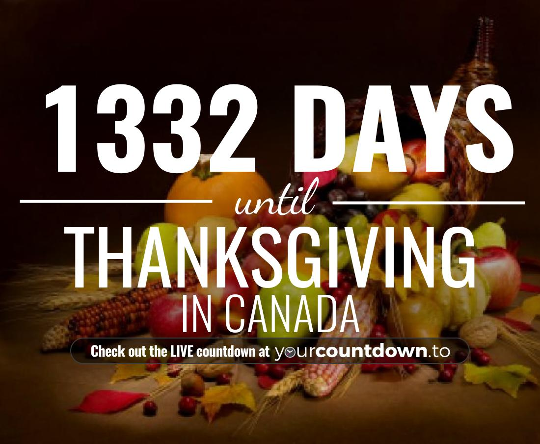 Countdown to Thanksgiving in Canada