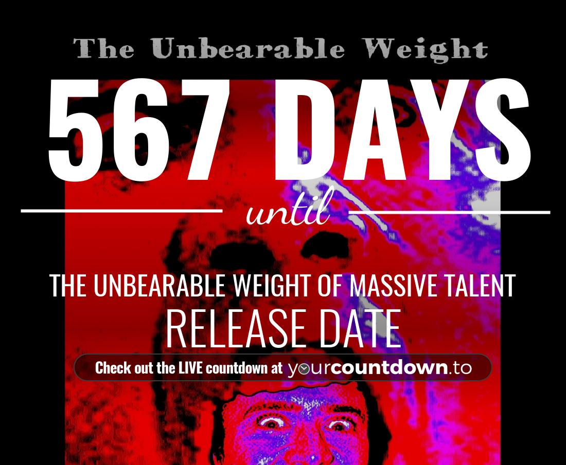 Countdown to The Unbearable Weight of Massive Talent Release Date