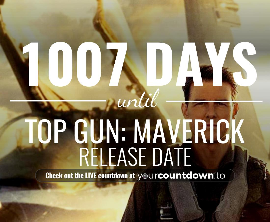 Countdown to Top Gun: Maverick Release Date