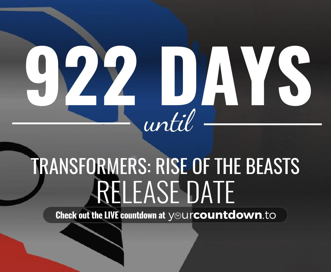 Countdown to Untitled Transformers Movie Release Date