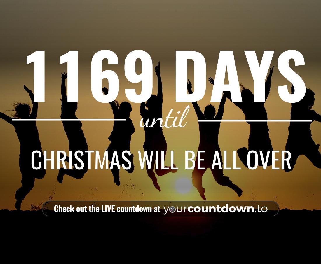 Countdown to Christmas will be all over