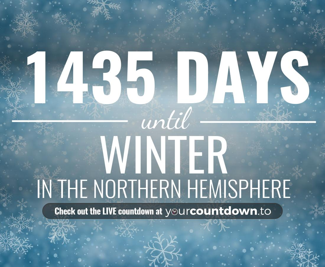 Countdown to Winter In the Northern Hemisphere