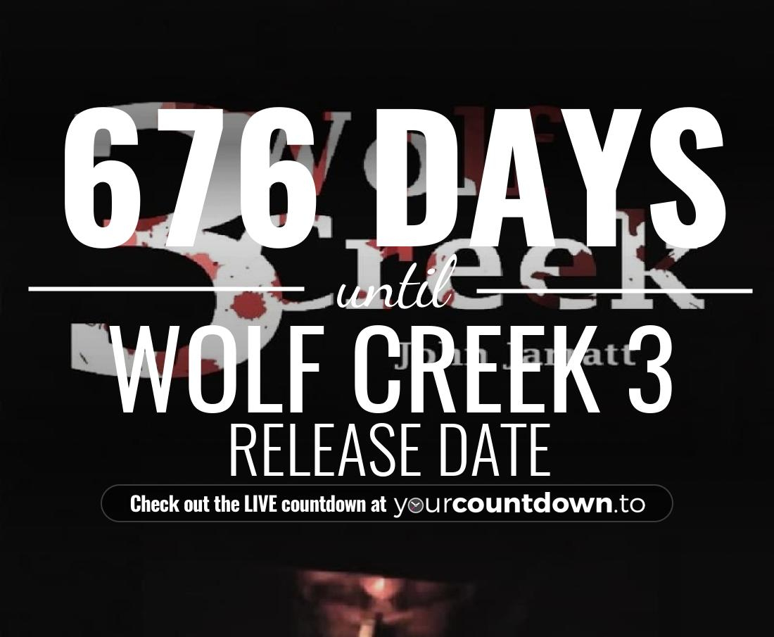 Countdown to Wolf Creek 3 Release Date
