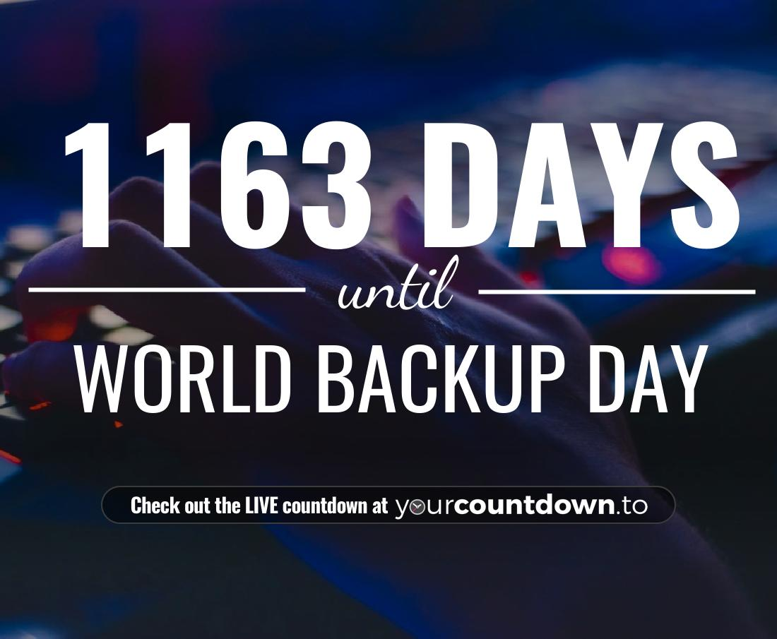 Countdown to World Backup Day