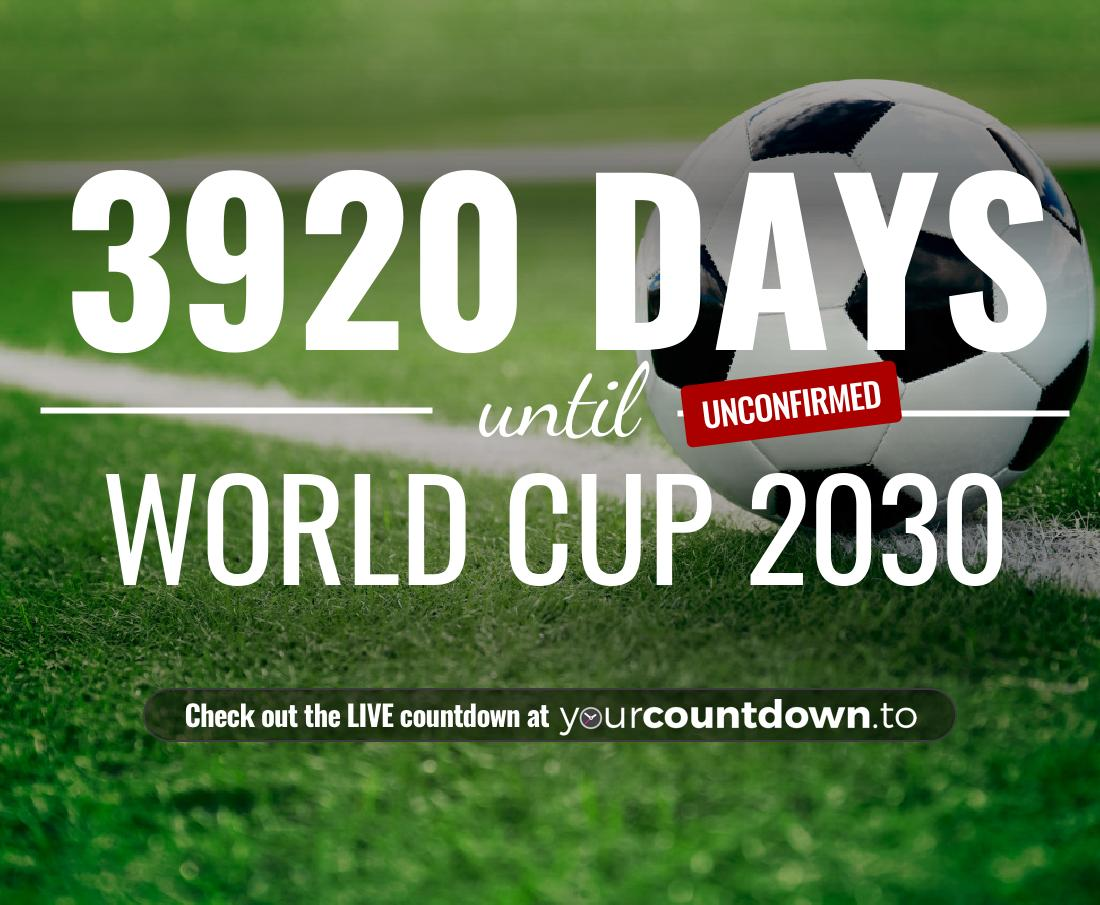 Countdown to World Cup 2030
