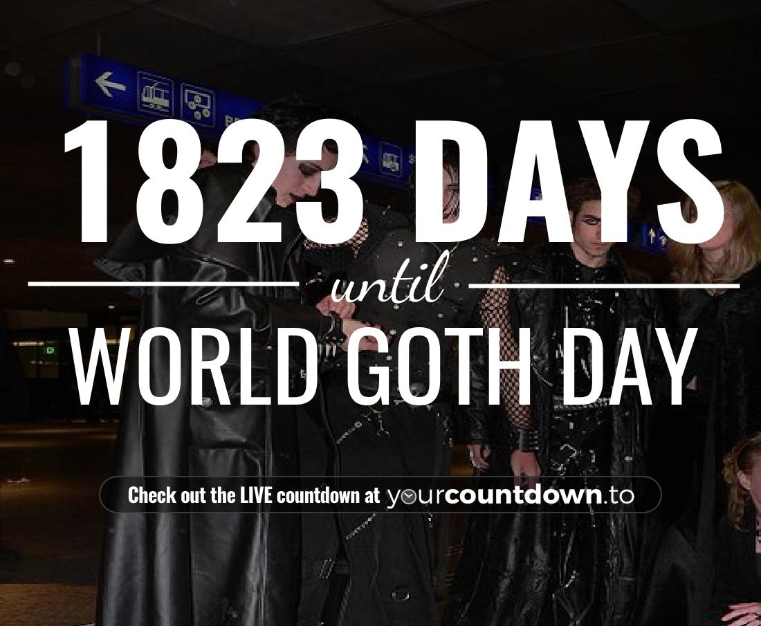 Countdown to World Goth Day