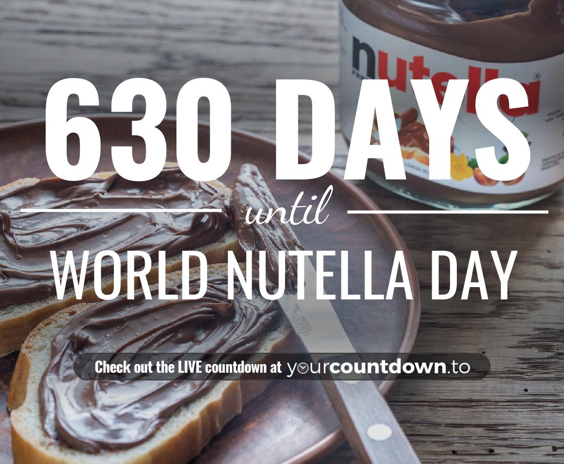 Countdown to World Nutella Day