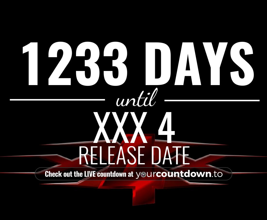 Countdown to xXx 4 Release Date